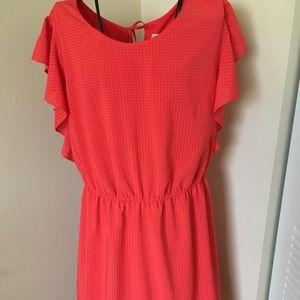 Merona Red Tie Waist Dress Size XL